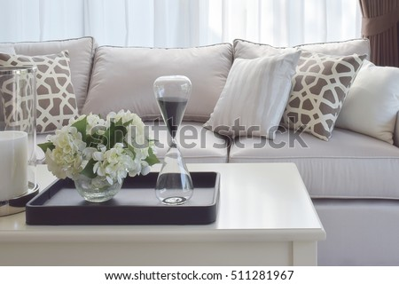 Modern Living Room Interior Design Artificial Stock Photo