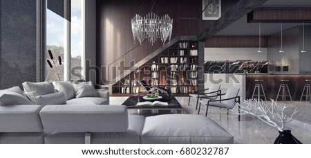 interior design living room pictures. Living room  interior design 3D Rendering Illustration Modern Interior Design Room 3d Stock 427382566