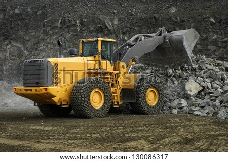 Production Useful Minerals Dump Truck Stock Photo