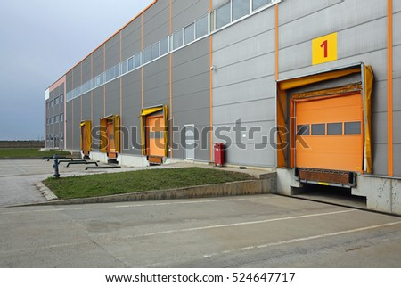 Loading Docks at Distribution Warehouse