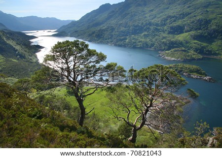 Loch Hourn and the Mountains of the Knoydart Peninsula in the highlands of western Scotland.