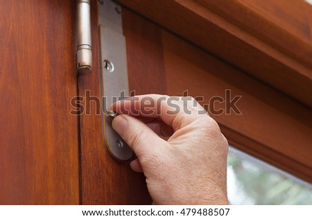 Lock the door for security use latches and locks to keep your house safe