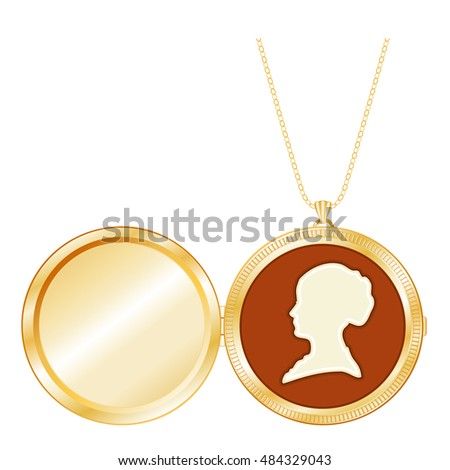 Locket jewelry ivory cameo vintage gentleman vectores en stock locket jewelry vintage gentle lady cameo silhouette portrait miniature antique gold chain necklace aloadofball Gallery