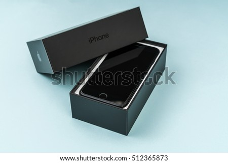 Loei, Thailand- November 07, 2016: New Apple iPhone 7 unboxing new smart phone produced by Apple Computer, Inc.