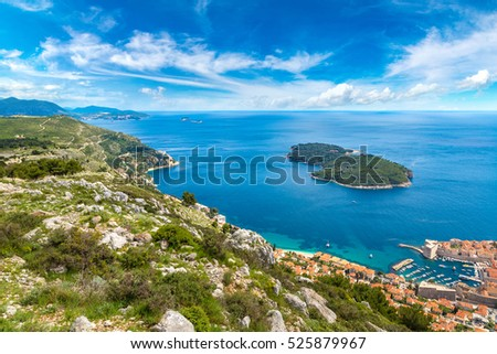 Lokrum island in Dubrovnik in a beautiful summer day, Croatia