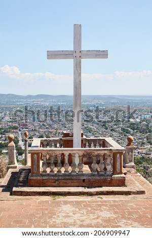Loma de la Cruz or Hill of the Cross in Holguin, capital city of the province of Holguin, Cuba.