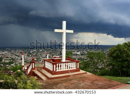 Loma de la Cruz or Hill of the Cross in Holguin, Cuba