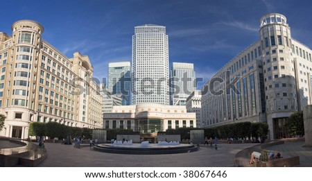 London business district Canary Wharf