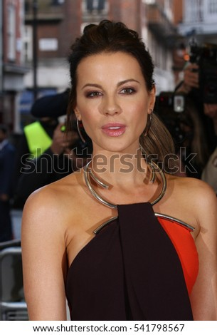 LONDON - MAY 24, 2016: Kate Beckinsale attends the Love & Friendship - UK film premiere at the Curzon Mayfair on May 24, 2016 in London
