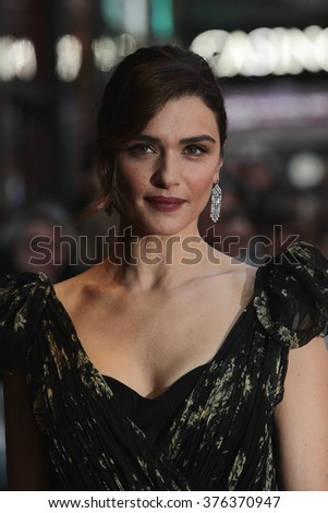 LONDON -OCT 13, 2015: Rachel Weisz attends The Lobster premiere, 59th BFI London Film Festival on Oct 2015 in London