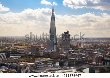 LONDON, UK - AUGUST 9, 2014: London view.