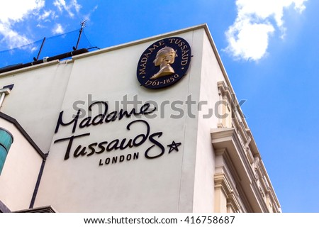 LONDON, UK - JUNE 7, 2015: Building detail of Madame Tussauds on Marylebone Road