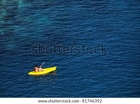 Lonely boat on the Ligurian Sea, Cinque Terre, Italy