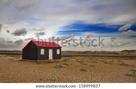 lonely shack on the beach