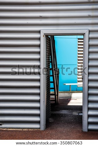 Looking through the Door to a bright blue wall/Looking Through the Door/Blue
