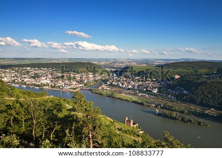 Lookout Rossel - Viewpoint of the Rhine Valley, Ruedesheim, Germany