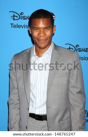 LOS ANGELES - AUG 4:  Gaius Charles arrives at the ABC Summer 2013 TCA Party at the Beverly Hilton Hotel on August 4, 2013 in Beverly Hills, CA