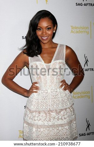 LOS ANGELES - AUG 12:  Mishael Morgan at the Dynamic & Diverse:  A 66th Emmy Awards Celebration of Diversity Event at Television Academy on August 12, 2014 in North Hollywood, CA