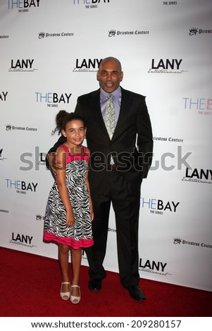 "LOS ANGELES - AUG 4:  Real Andrews at the ""The Bay"" Red Carpet Extravaganza at the Open Air Kitchen + Bar on August 4, 2014 in West Hollywood, CA"