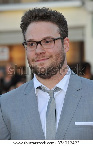 "LOS ANGELES, CA - APRIL 28, 2014: Seth Rogen at the world premiere of his movie ""Neighbors"" at the Regency Village Theatre, Westwood."