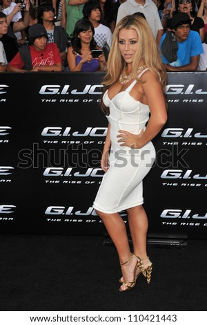 "LOS ANGELES, CA - AUGUST 6, 2009: Aubrey O'Day at the Los Angeles premiere of ""G.I. Joe: The Rise of Cobra"" at Grauman's Chinese Theatre, Hollywood."