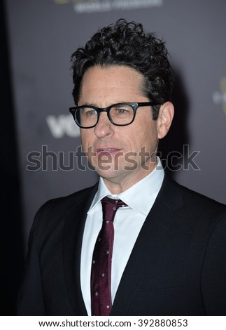 "LOS ANGELES, CA - DECEMBER 14, 2015: Director J.J. Abrams at the world premiere of ""Star Wars: The Force Awakens"" on Hollywood Boulevard"