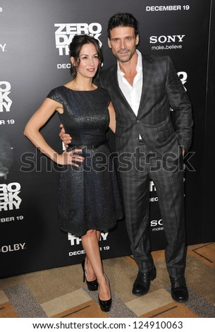"LOS ANGELES, CA - DECEMBER 10, 2012: Frank Grillo & wife Wendy Moniz at the premiere of his movie ""Zero Dark Thirty"" at the Dolby Theatre, Hollywood."