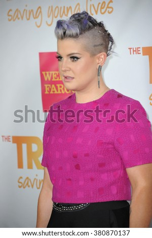 LOS ANGELES, CA - DECEMBER 7, 2014: Kelly Osbourne at the 2014 TrevorLIVE Los Angeles Gala at the Hollywood Palladium.