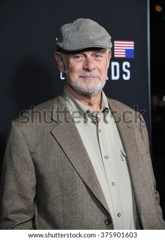 "LOS ANGELES, CA - FEBRUARY 13, 2014: Gerald McRaney at the season two premiere of his Netflix series ""House of Cards"" at the Directors Guild Theatre."