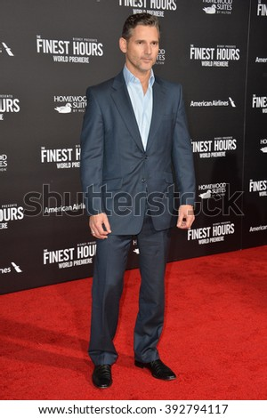 "LOS ANGELES, CA - JANUARY 25, 2016: Actor Eric Bana at the premiere of his movie ""The Finest Hours"" at the TCL Chinese Theatre, Hollywood."