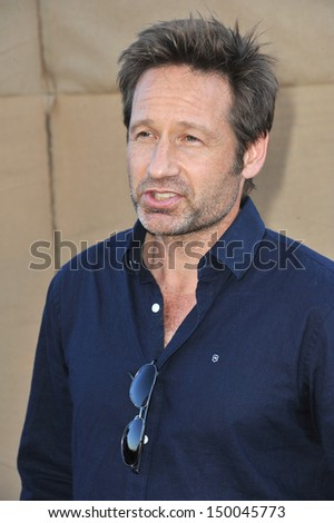 LOS ANGELES, CA - JULY 29, 2013: David Duchovny at the CBS 2013 Summer Stars Party in Beverly Hills.