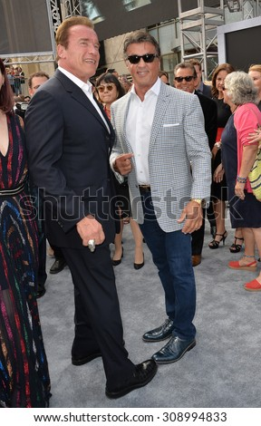 ¿Cuánto mide Arnold Schwarzenegger? - Real height Stock-photo-los-angeles-ca-june-arnold-schwarzenegger-sylvester-stallone-at-the-los-angeles-308994833