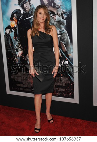 "LOS ANGELES, CA - JUNE 17, 2010: Diane Lane at the Los Angeles premiere of ""Jonah Hex"" at the Cinerama Dome, Hollywood."