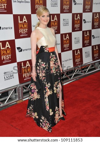 "LOS ANGELES, CA - JUNE 19, 2012: Gillian Jacobs at the world premiere of her movie ""Seeking a Friend for the End of the World"" at Regal Cinemas LA Live."