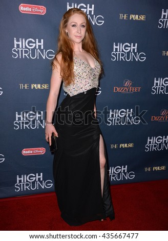 "LOS ANGELES, CA - MARCH 29, 2016: Actress/dancer Corinne Holt at the premiere for ""High Strung"" at the TCL Chinese 6 Theatres, Hollywood."