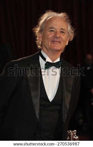 LOS ANGELES, CA - MARCH 2, 2014: Bill Murray at the 86th Annual Academy Awards at the Dolby Theatre, Hollywood.