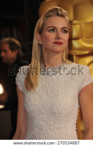 LOS ANGELES, CA - MARCH 2, 2014: Naomi Watts at the 86th Annual Academy Awards at the Hollywood & Highland Theatre, Hollywood.