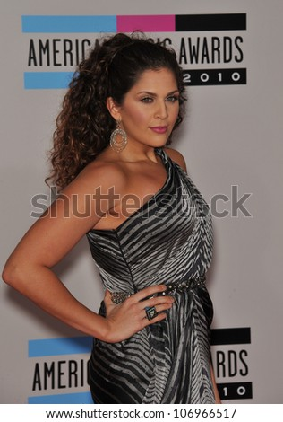 LOS ANGELES, CA - NOVEMBER 21, 2010: Lady Antebellum star Hillary Scott at the 2010 American Music Awards at the Nokia Theatre L.A. Live.