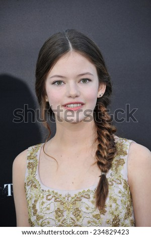 LOS ANGELES, CA - OCTOBER 26, 2014: Mackenzie Foy at the Los Angeles premiere of her movie Interstellar at the TCL Chinese Theatre, Hollywood.