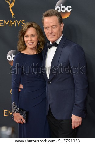 LOS ANGELES, CA. September 18, 2016: Actor Bryan Cranston & wife Robin Dearden at the 68th Primetime Emmy Awards at the Microsoft Theatre L.A. Live.