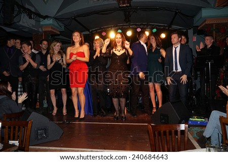 LOS ANGELES - DEC11: Sparkle Cast at Scott Nevins Presents SPARKLE: An All-Star Holiday Concert to benefit The Actors Fund at Rockwell Table & Stage on December 11, 2014 in Los Angeles, California