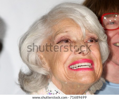LOS ANGELES - FEB 21:  Carol Channing arrives at a performance celebrating her 90th birthday at Pantages Theater on February 21, 2011 in Los Angeles, CA