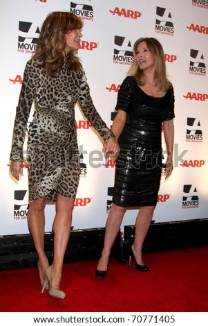 LOS ANGELES   FEB 7: Jaclyn Smith, Cheryl Ladd Arrive At The 2011 AARP
