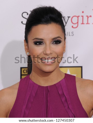 "LOS ANGELES - JAN 10:  Eva Longoria arrives to the ""Critic's Choice Awards 2013  on January 10, 2013 in Santa Monica, CA"