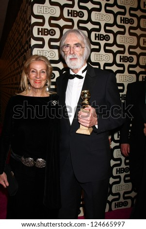 LOS ANGELES - JAN 13:  Michael Haneke arrives at the 2013 HBO Post Golden Globe Party at Beverly Hilton Hotel on January 13, 2013 in Beverly Hills, CA..