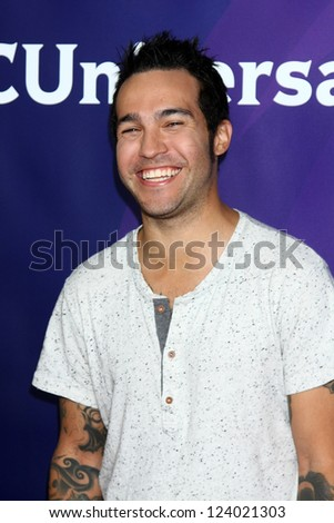 LOS ANGELES - JAN 7:  Pete Wentz attends the NBCUniversal 2013 TCA Winter Press Tour at Langham Huntington Hotel on January 7, 2013 in Pasadena, CA