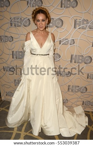 LOS ANGELES - JAN 8:  Sarah Jessica Parker at the HBO Golden Globes After-Party at Circa 55 at Beverly Hilton Hotel on January 8, 2017 in Beverly Hills, CA