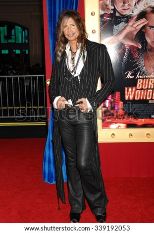 LOS ANGELES - MAR 11 - Steven Tyler arrives at the Incredible Burt Wonderstone World Premiere on March 11,  2013 in Los Angeles, CA