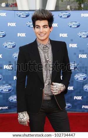LOS ANGELES - MAY 25: Adam Lambert at the American Idol Finale at the Nokia Theater in Los Angeles, California on May 25, 2011