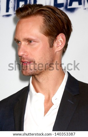 "LOS ANGELES - MAY 28:  Alexander Skarsgard arrives at ""The East"" LA Premiere at the ArcLight Hollywood Theaters on May 28, 2013 in Los Angeles, CA"